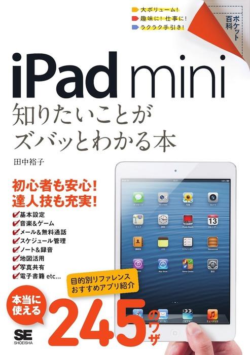 ポケット百科 iPad mini 知りたいことがズバッとわかる本拡大写真