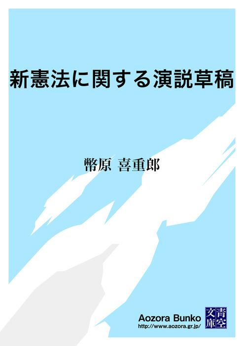 新憲法に関する演説草稿拡大写真