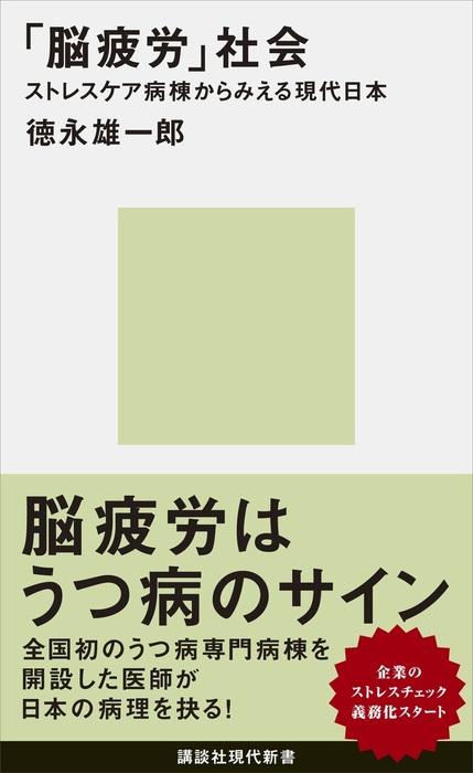 「脳疲労」社会 ストレスケア病棟からみえる現代日本拡大写真