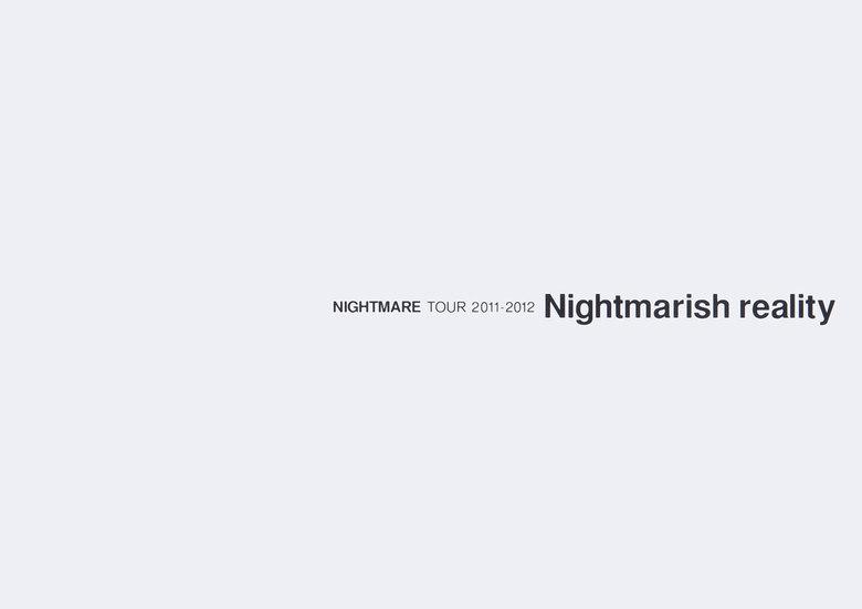 ナイトメア公式ツアーパンフレット 2011 TOUR 2011-2012 Nightmarish reality拡大写真