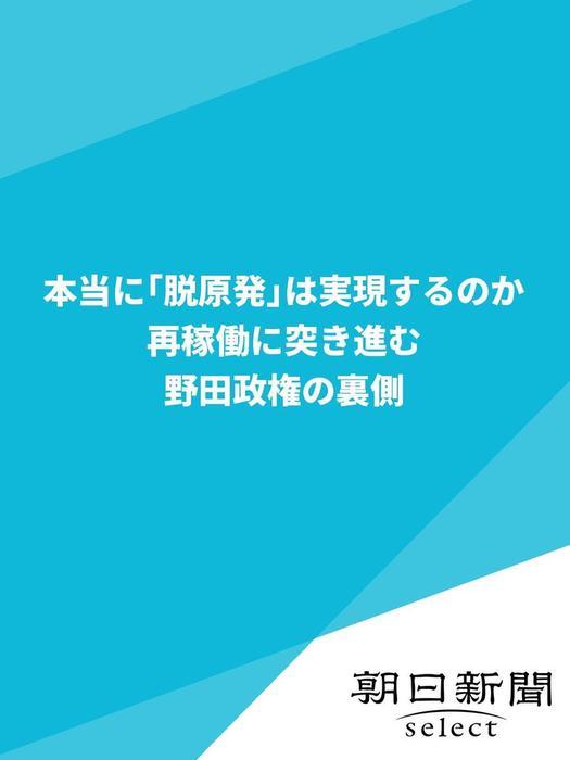 本当に「脱原発」は実現するのか 再稼働に突き進む野田政権の裏側拡大写真