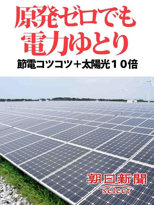 原発ゼロでも電力ゆとり 節電コツコツ+太陽光10倍拡大写真