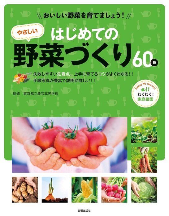 おいしい野菜を育てましょう! はじめてのやさしい野菜づくり拡大写真