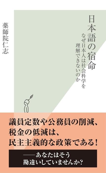 日本語の宿命~なぜ日本人は社会科学を理解できないのか~拡大写真