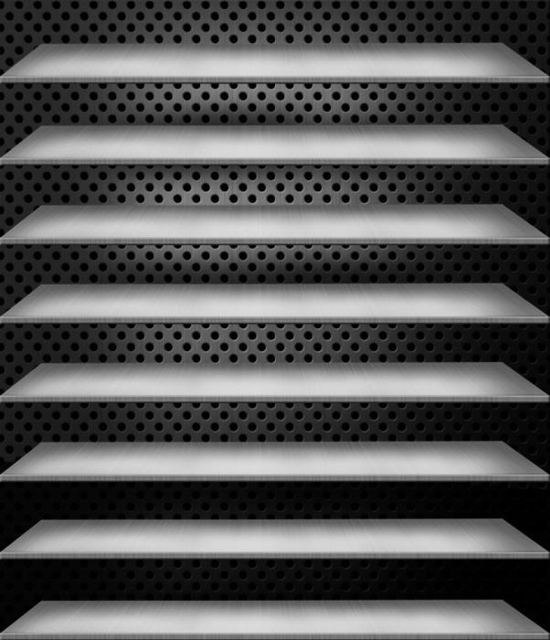 きせかえ本棚 『メタル』 【64冊収納】拡大写真