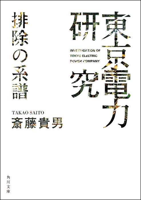 「東京電力」研究 排除の系譜拡大写真