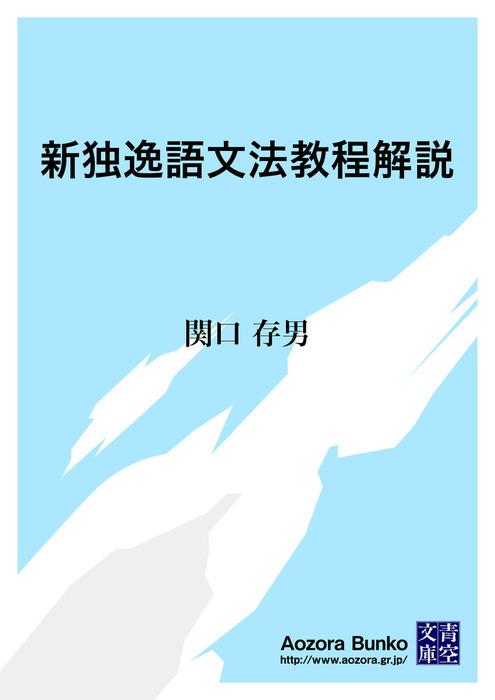 新独逸語文法教程解説拡大写真