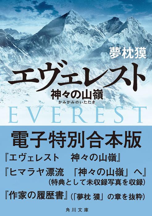 エヴェレスト 神々の山嶺 電子特別合本版拡大写真