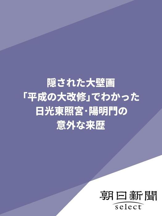 隠された大壁画 「平成の大改修」でわかった日光東照宮・陽明門の意外な来歴拡大写真