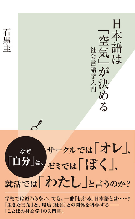 日本語は「空気」が決める~社会言語学入門~拡大写真