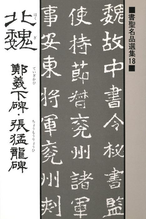 書聖名品選集(18)北魏 : 鄭義下碑・張猛龍碑拡大写真