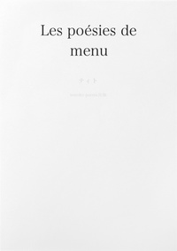 Les poesies de menu