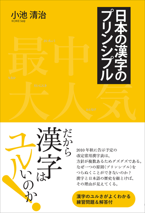 日本の漢字のプリンシプル拡大写真