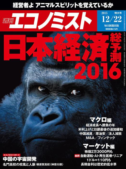週刊エコノミスト (シュウカンエコノミスト) 2015年12月22日号拡大写真