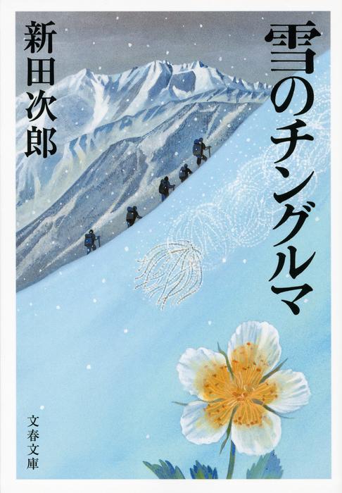 雪のチングルマ拡大写真