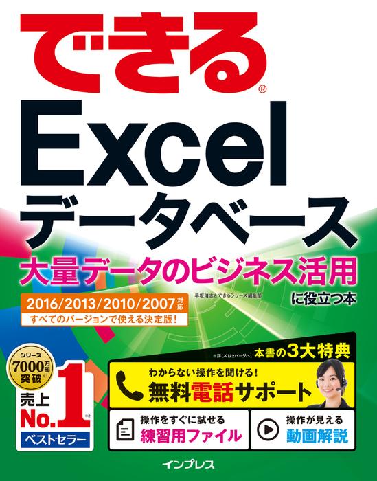 できるExcel データベース 大量データのビジネス活用に役立つ本  2016/2013/2010/2007対応拡大写真