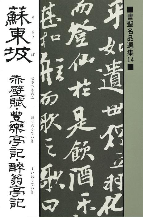 書聖名品選集(14)蘇東坡 : 赤壁賦・豊楽亭記・酔翁亭記拡大写真