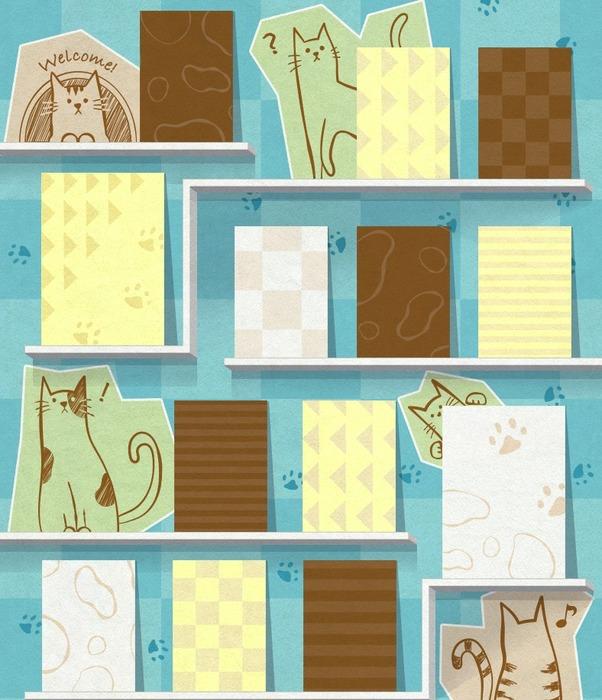 2月22日は『猫の日』だにゃー!きせかえ本棚01拡大写真