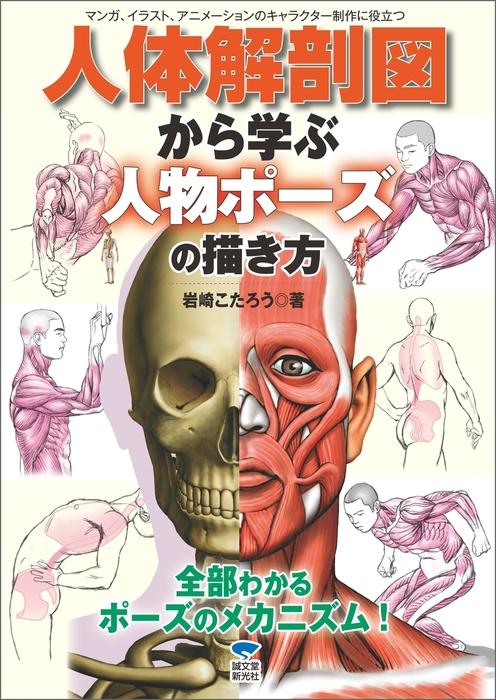 人体解剖図から学ぶ人物ポーズの描き方拡大写真