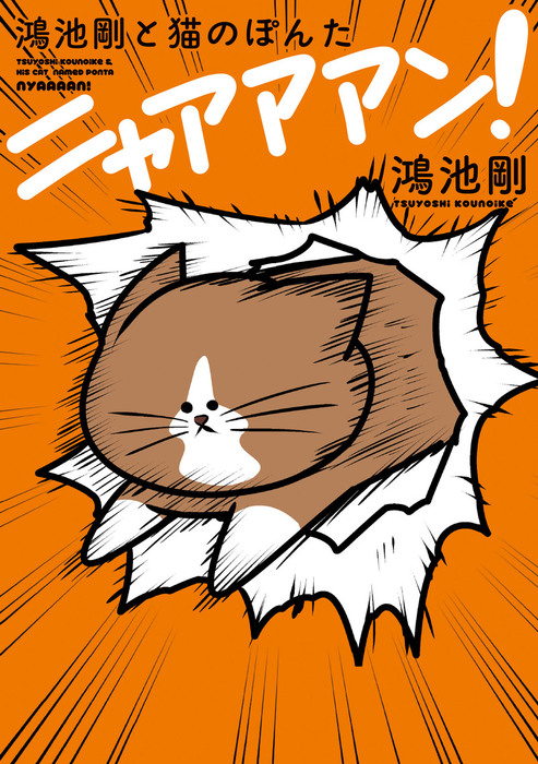 鴻池剛と猫のぽんた ニャアアアン!拡大写真