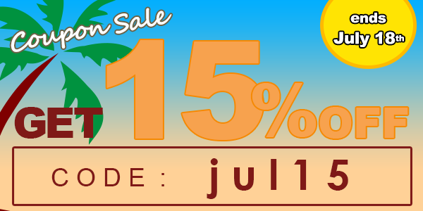 15% off for all titles!