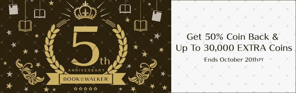 BOOK☆WALKER GLOBAL CELEBRATES FIFTH ANNIVERSARY!