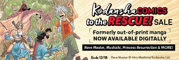 Kodansha Comics Rescue Sale