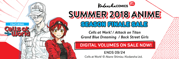 Kodansha Comics Summer Anime Finale Sale