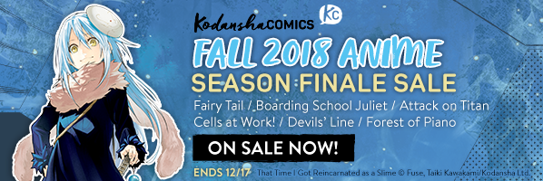 Kodansha Comics Fall 2018 Manga to Anime Sale
