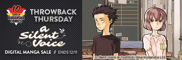 Kodansha Comics Throwback Thursday: A Silent Voice