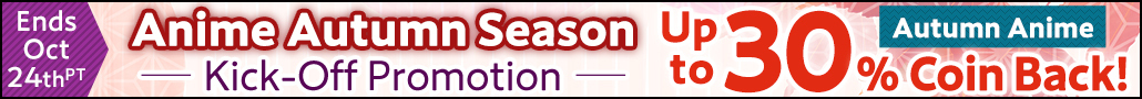 Anime Autumn Season 2020 Kick-Off Coin Back