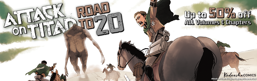 """""""Road to 20"""": Attack on Titan 50% OFF Sale"""