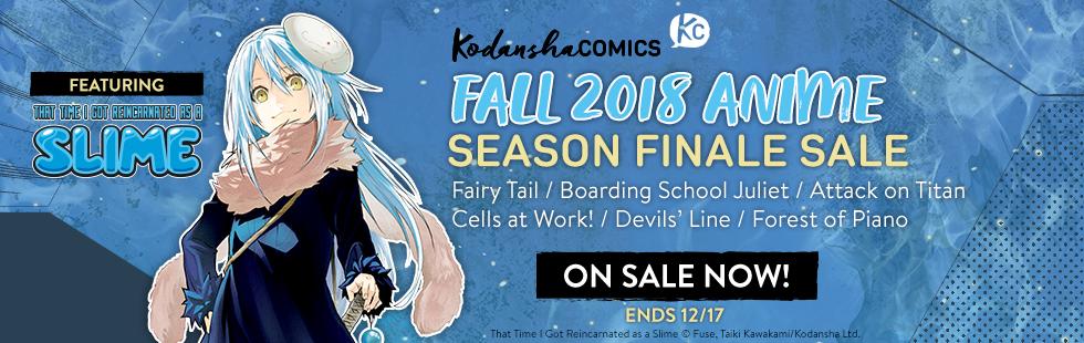 Kodansha Comics Fall 2018 Manga to Anime Sale