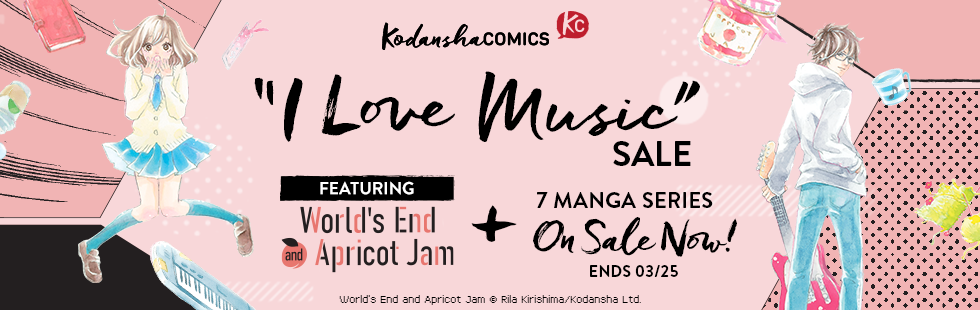 "Kodansha Comics ""I Love Music"" Manga Sale"