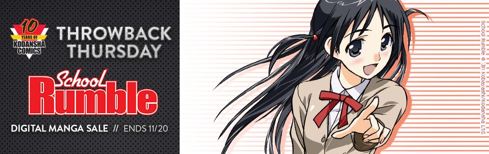Kodansha Comics Throwback Thursday: School Rumble