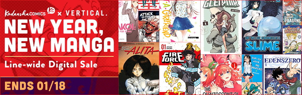 Kodansha promotion New Year, New Manga