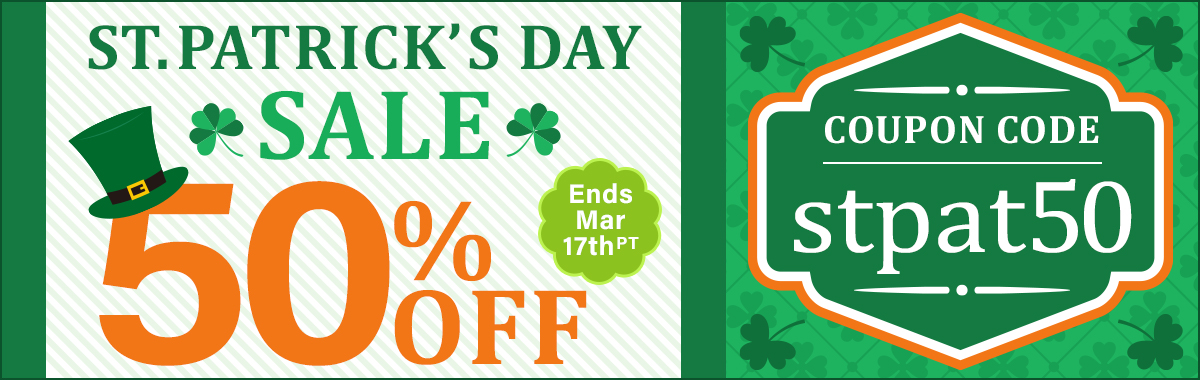 St. Patrick's 50% OFF Sale!