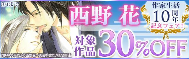 西野花 作家生活10周年記念フェア!!
