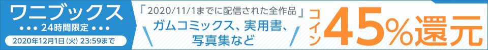 24時間限定!ワニブックス コイン45%還元キャンペーン