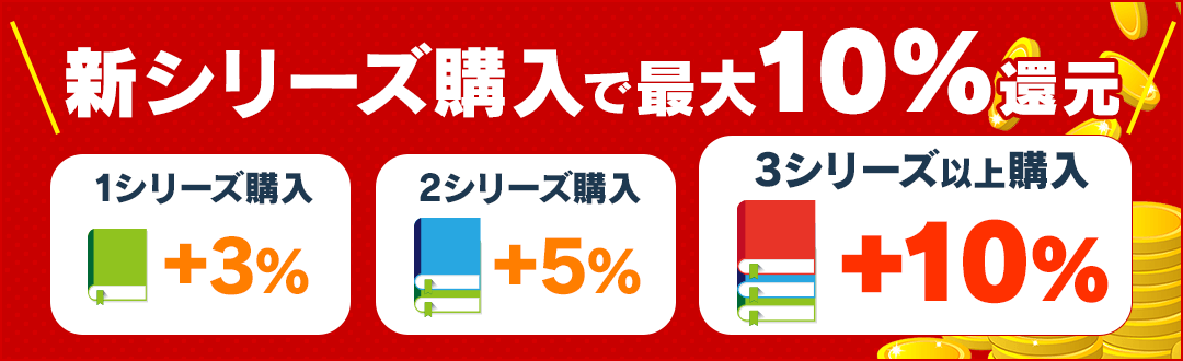 特定の会員様限定 新シリーズ購入でコイン最大10%還元!!