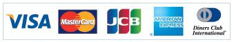 VISA/MasterCard/JCB/AMERICAN EXPRESS/Diners Club