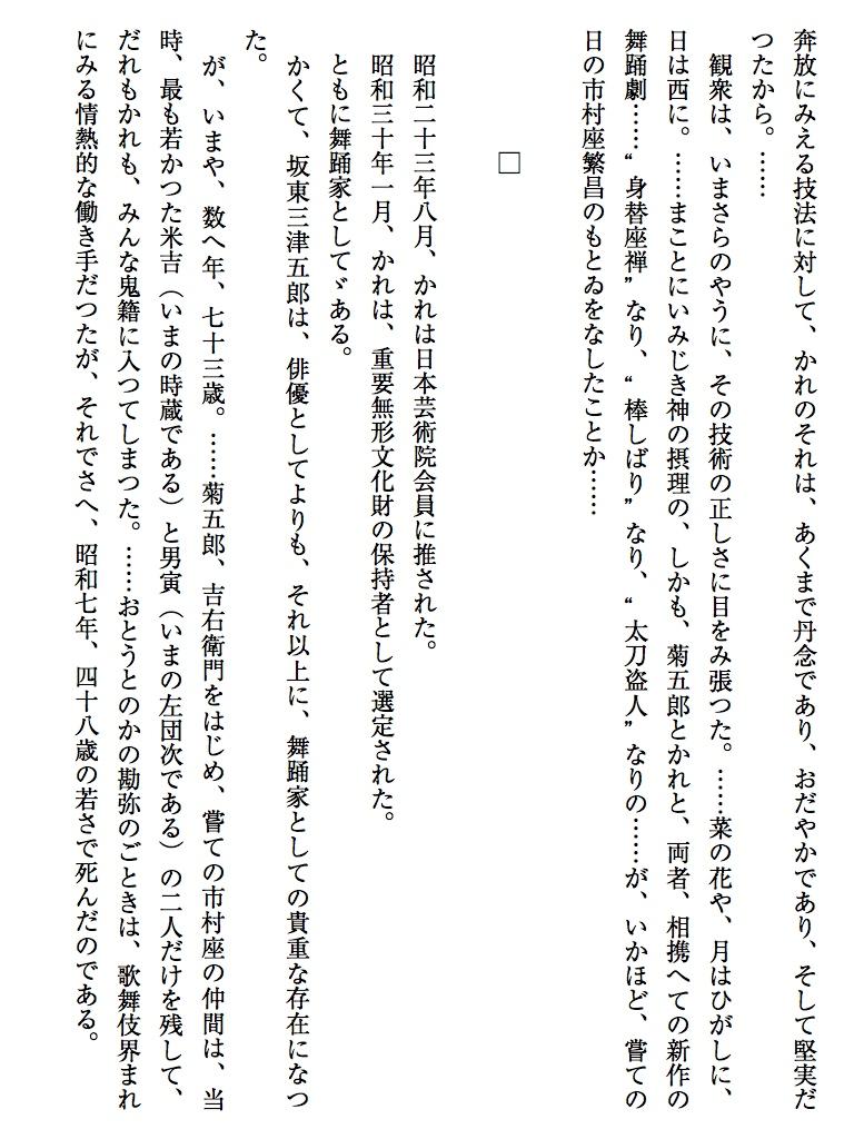 七代目坂東三津五郎-電子書籍