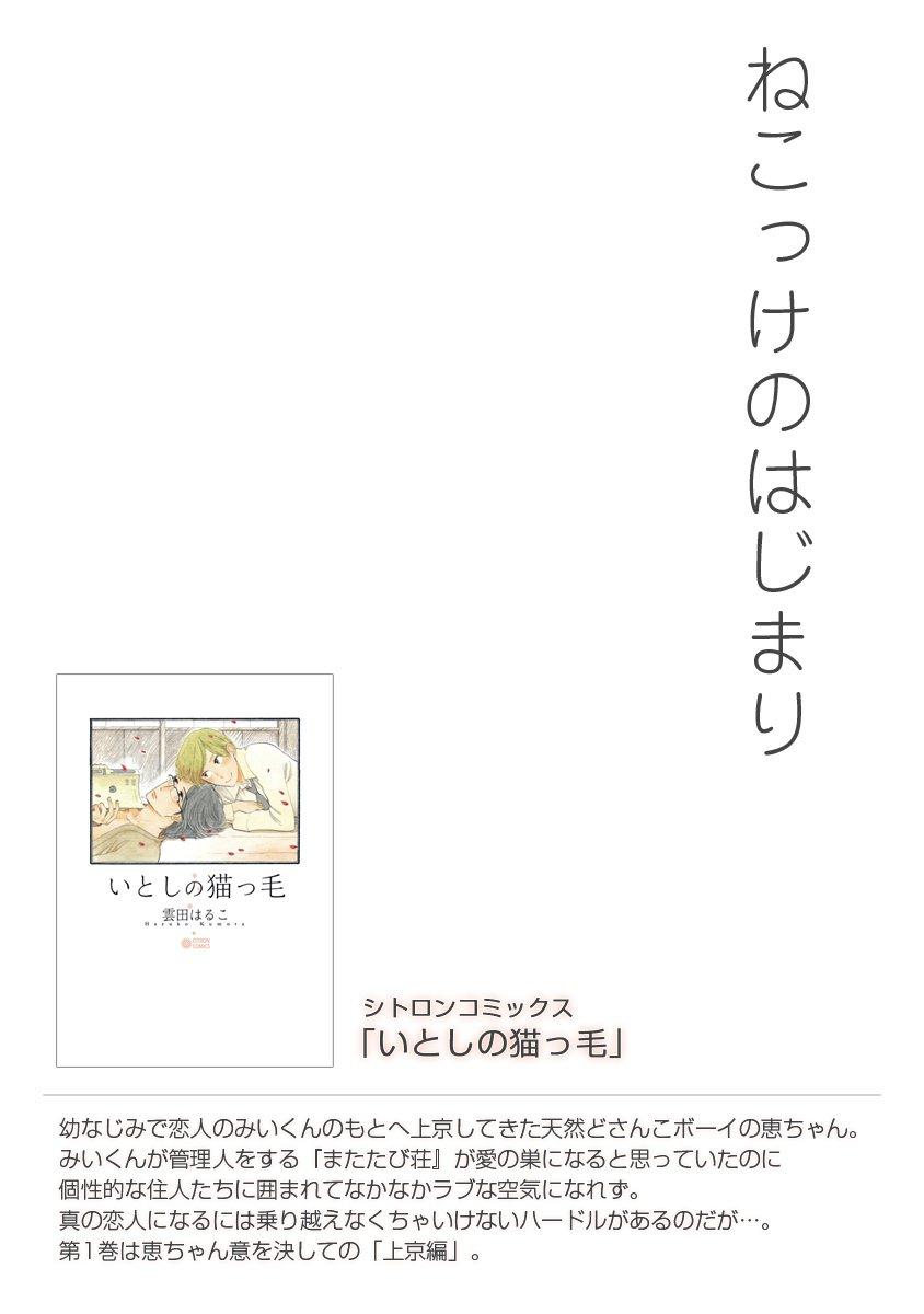 【無料】いとしの猫っ毛『はじめてのねこっけ』-電子書籍