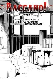 Baccano!, Chapter 21 (manga)