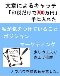 文章によるキャッチ『印税だけで700万円手に入れた』ポジションマーケティング